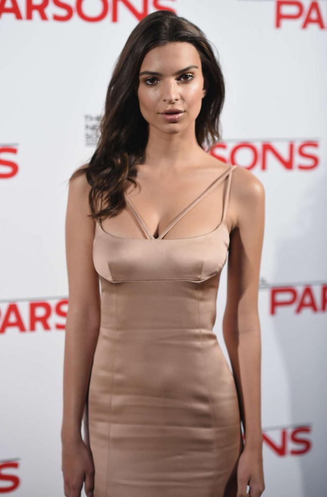 Emily Ratajkowski - 2015 Parsons Fashion Benefit in NYC