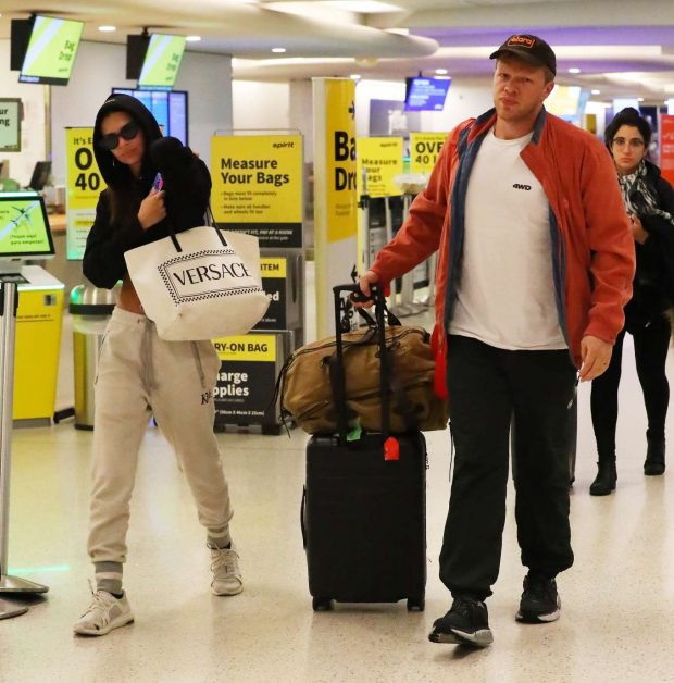 Emily Ratajkowski and ebastian Bear-McClard - Arrives to LAX Airport in LA