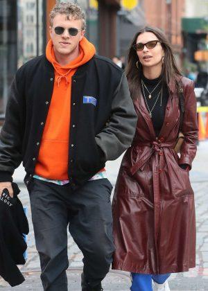 Emily Ratajkowski and Sebastian Bear-McClard out in NYC