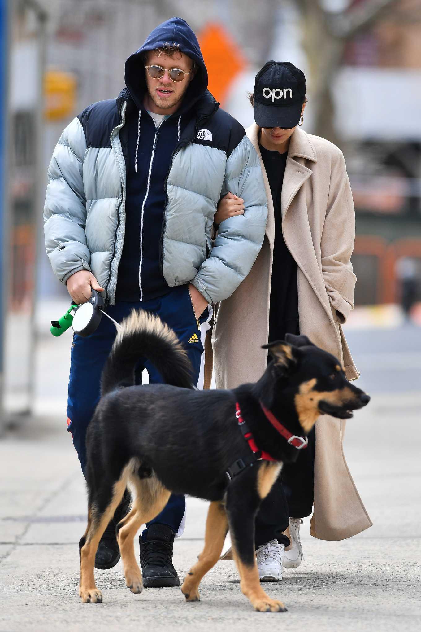 Emily Ratajkowski and Sebastian Bear-McClard - Walk their dog Colombo in New York
