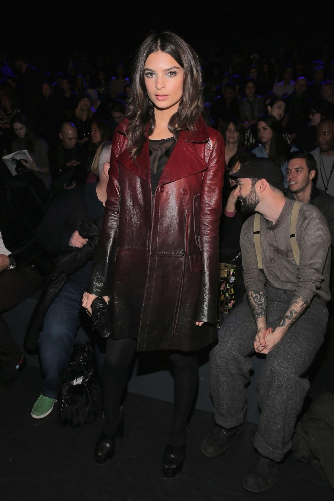 Emily Ratajkowski - Anna Sui 2016 Fashion Show in NYC