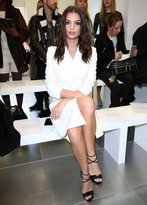 Emily Ratajkowski - Antonio Berardi Fashion Show 2015 in London