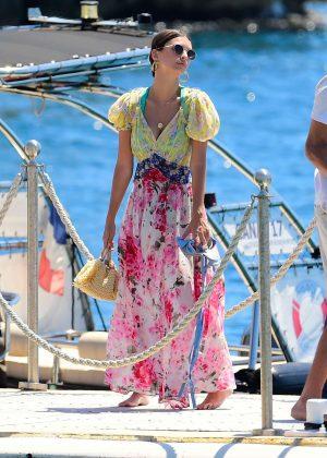 Emily Ratajkowski arriving at Eden Rock in Cannes