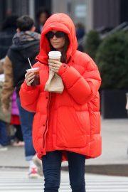 Emily Ratajkowski at a Starbucks Coffee in New York City