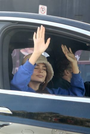 Emily Ratajkowski - celebrates Joe Biden's win with her husband in Los Angeles