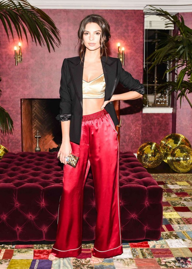 Emily Ratajkowski - Dolce and Gabbana Pyjama Party in Los Angeles