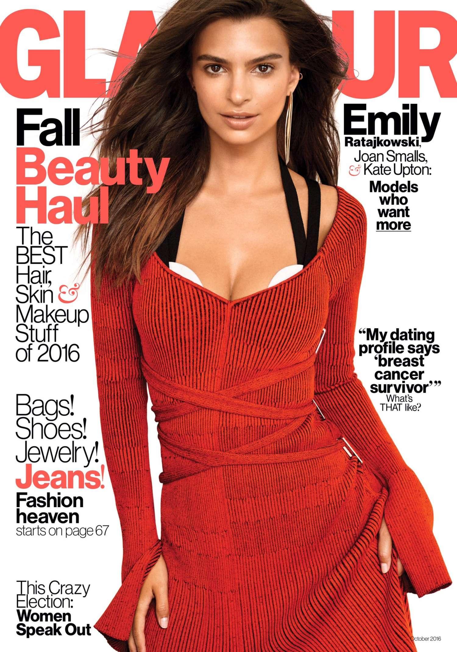 Emily Ratajkowski Glamour Us Magazine October 2016