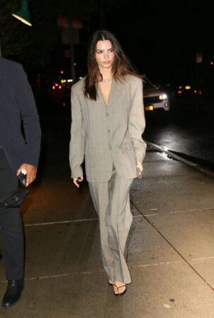 Emily Ratajkowski - heads to a private event in NYC