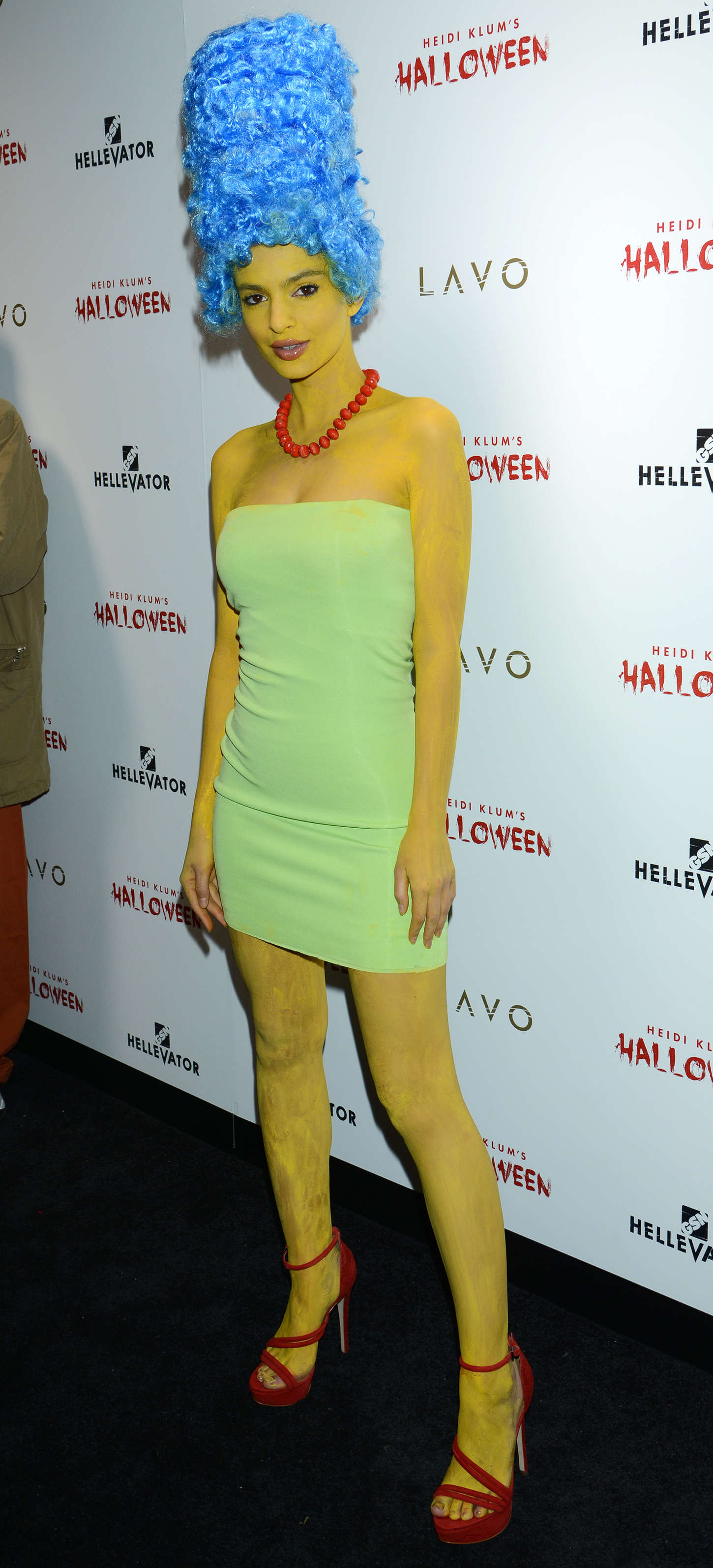 Emily Ratajkowski - Heidi Klum Halloween Party 2015 in NY
