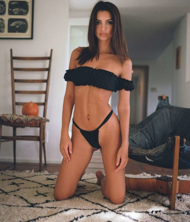 Emily Ratajkowski in Bikini and Swimsuit - Social Media