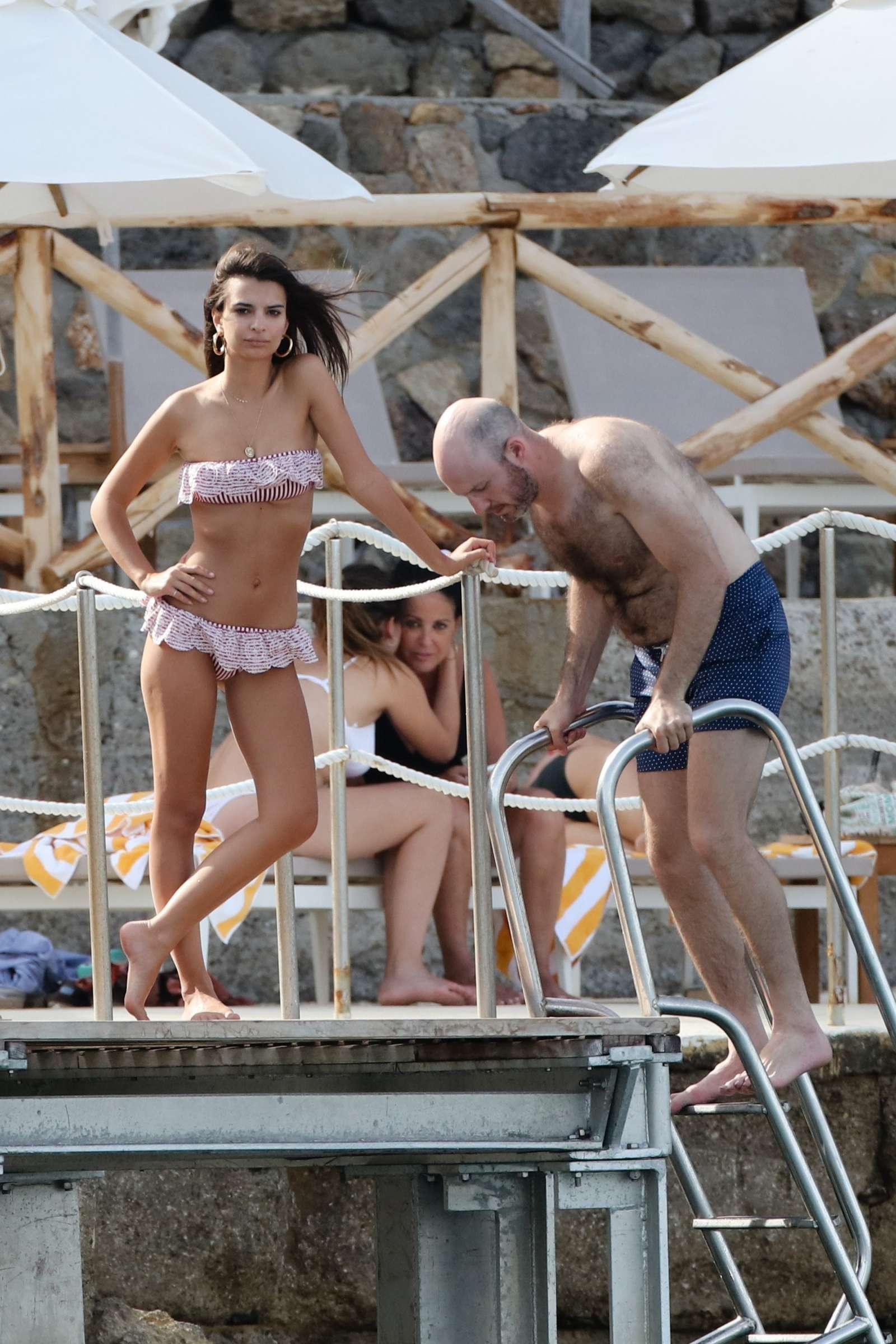 Emily Ratajkowski in Bikini on vacationing in Tuscany