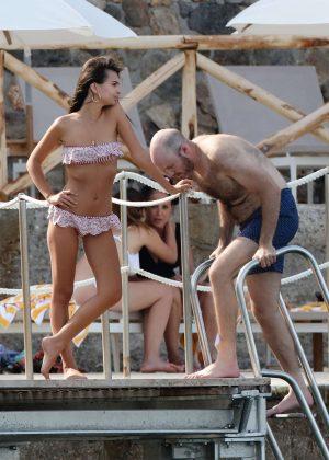 Emily Ratajkowski in Bikini on vacationing in Tuscany