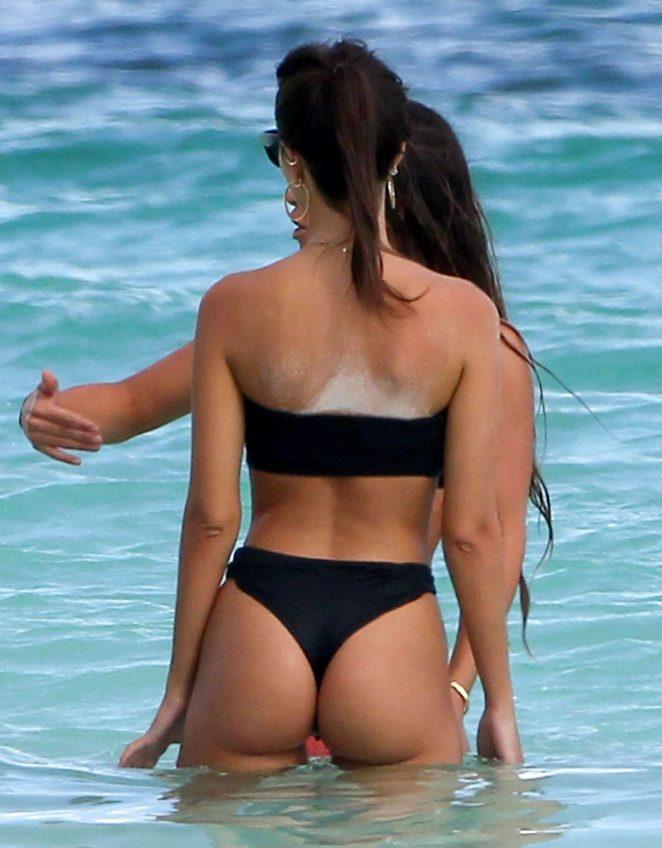 Emily Ratajkowski in Black Bikini 2016 -48