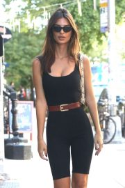 Emily Ratajkowski in Black Tights - Out in New York