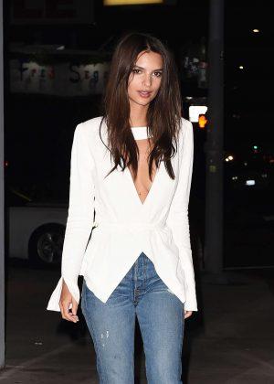 Emily Ratajkowski in Jeans in Los Angeles