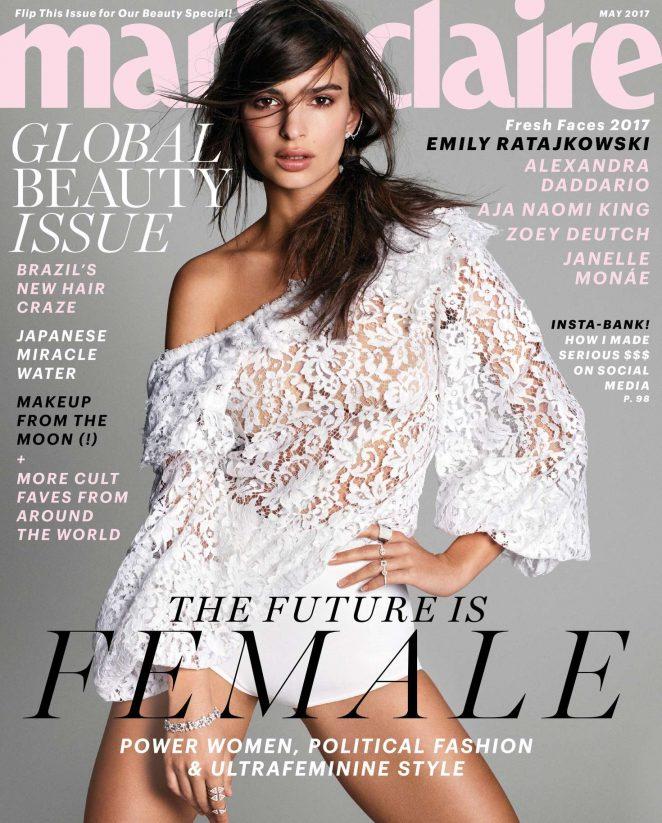 Emily Ratajkowski in Marie Claire Magazine (May 2017)