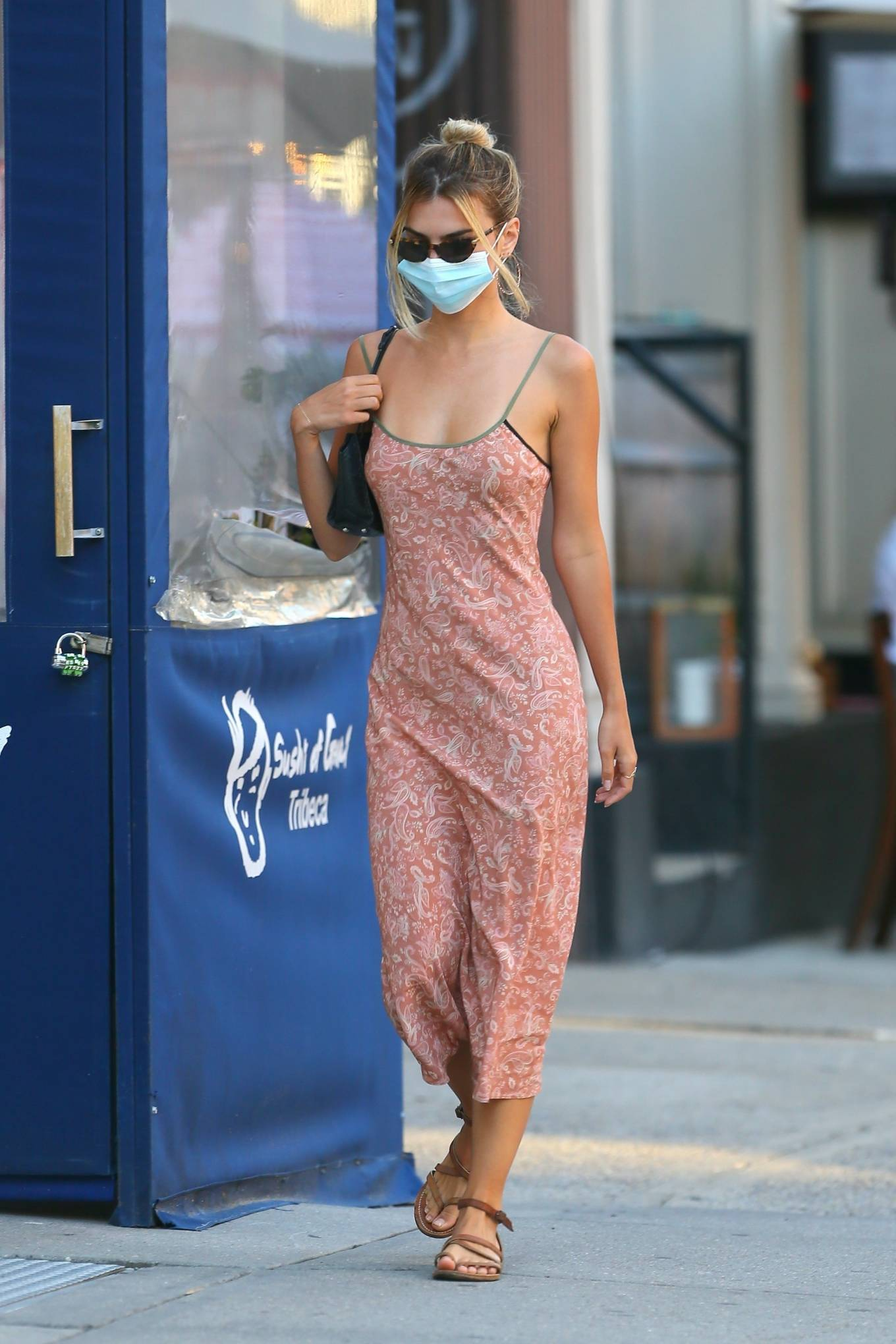 Emily Ratajkowski - In maxi dress while out in New York