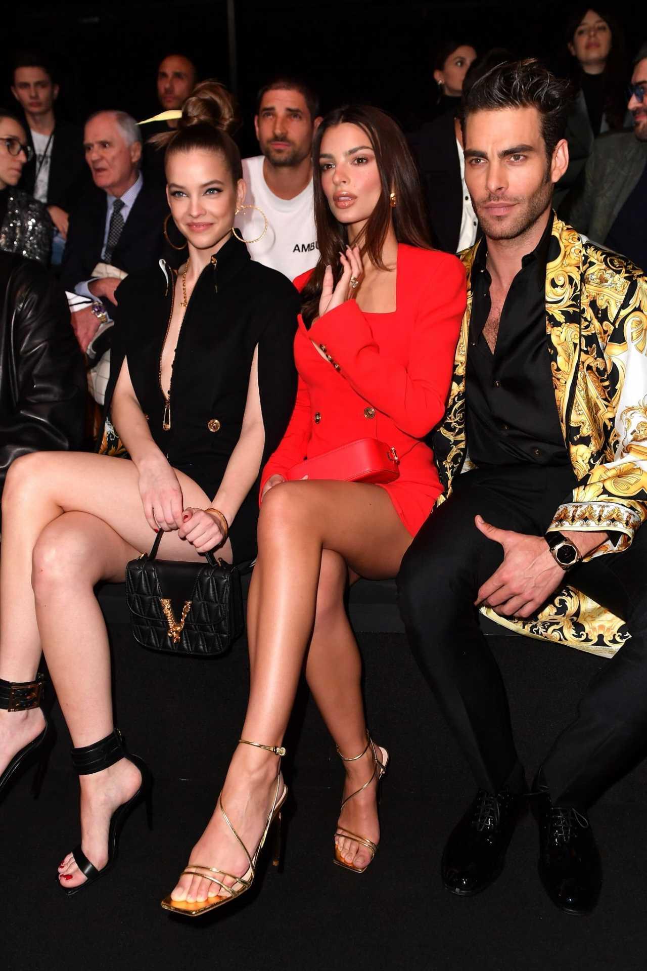 Emily Ratajkowski 2020 : Emily Ratajkowski – In red at Versace Fashion Show in Milan February-09