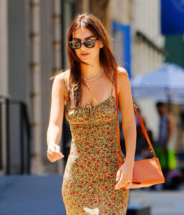 Emily Ratajkowski - In summer dress out with a friend in NYC