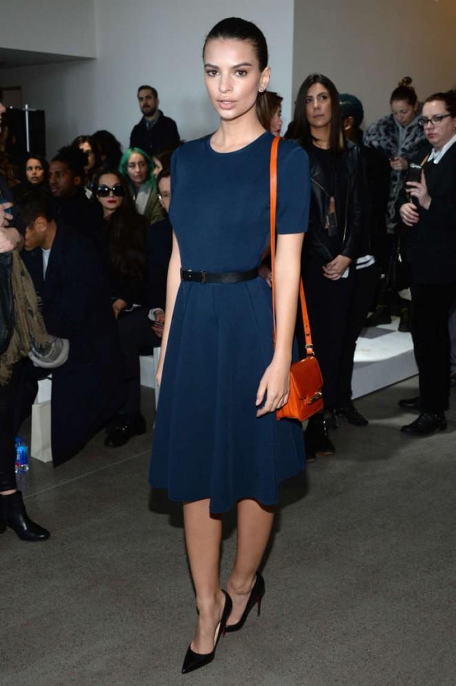 Emily Ratajkowski - Jason Wu Fashion Show 2014 in NYC