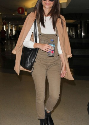 Emily Ratajkowski in Jumpsuit at LAX Airport in LA