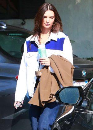 Emily Ratajkowski - Leaving a studio in Hollywood
