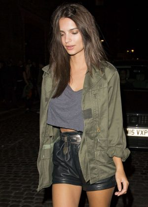 Emily Ratajkowski - Leaving The Chiltern Firehouse in London