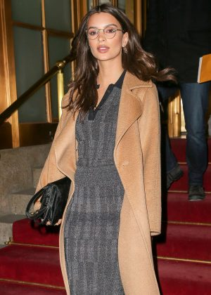 Emily Ratajkowski - Leaving the St. Regis Hotel in New York City