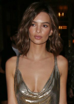 Emily Ratajkowski - Looking Hot at Omega Her Time Exhibition Launch Party in Paris