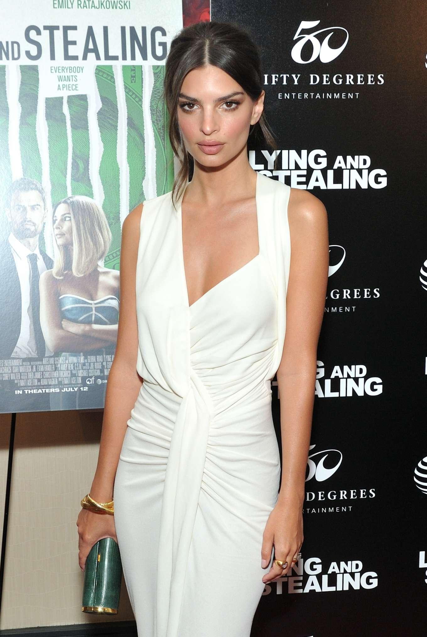 Emily Ratajkowski - 'Lying and Stealing' Screening in New York