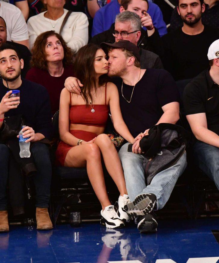 Emily Ratajkowski: Miami Heat v New York Knicks game -02