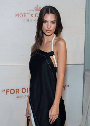 Emily Ratajkowski - Moet & Chandon and Virgil Abloh New Bottle Collaboration Launch in NYC