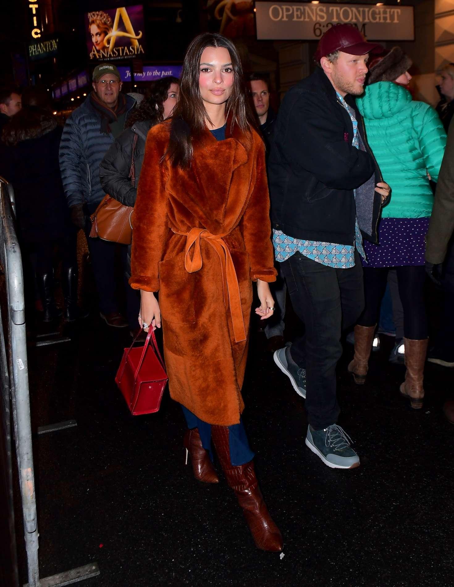 Emily Ratajkowski - Night out in NYC