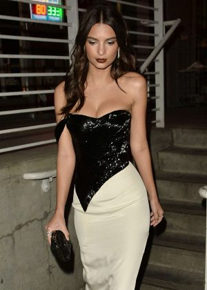 Emily Ratajkowski Night Out in West Hollywood
