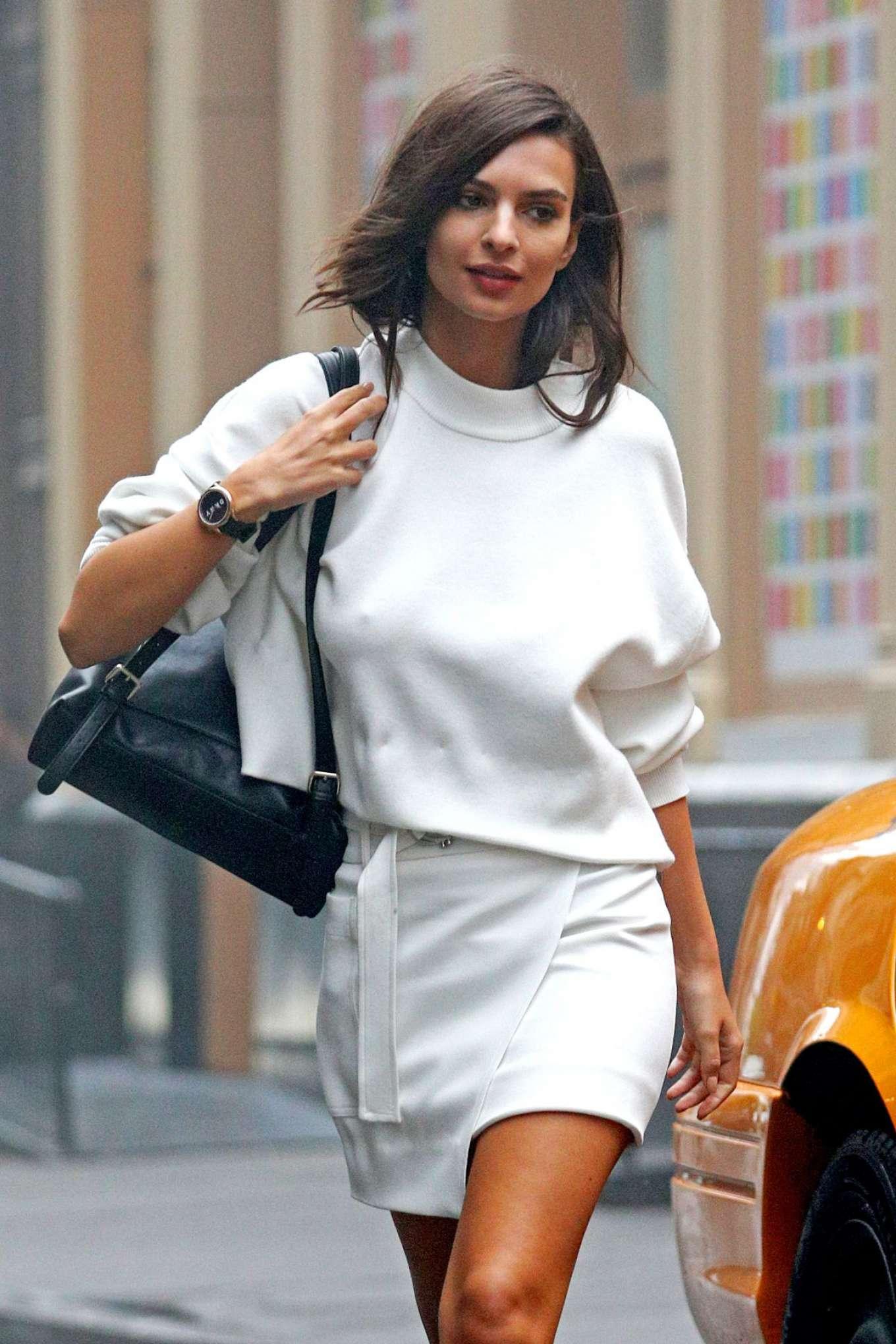 Emily Ratajkowski on DKNY Commercial set in New York