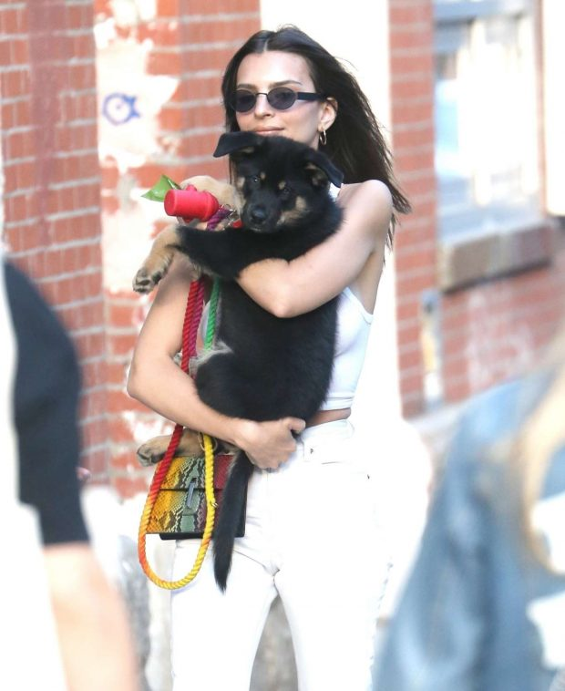 Emily Ratajkowski out with Colombo in NYC