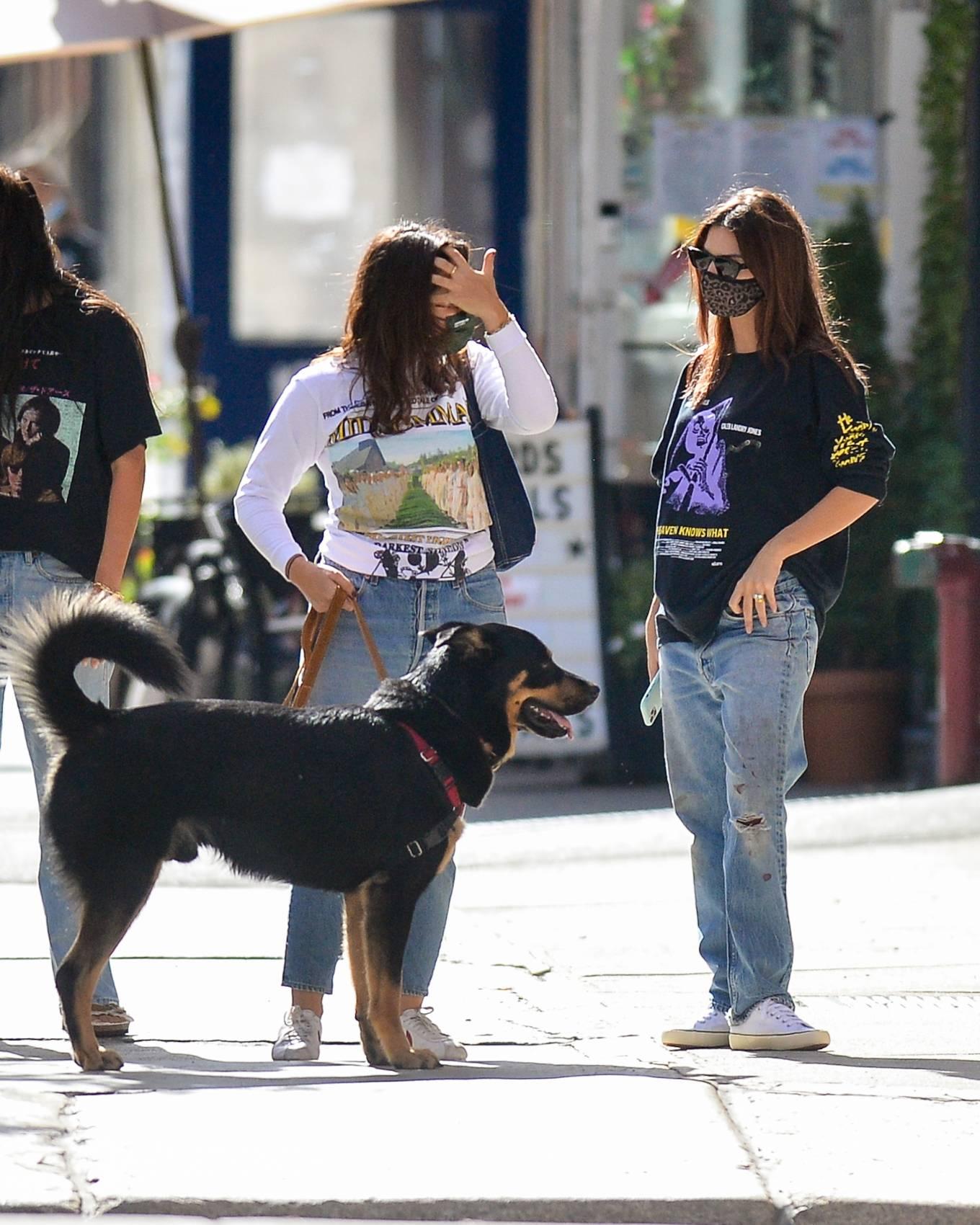 Emily Ratajkowski 2020 : Emily Ratajkowski – Out with her dog in downtown New York-05