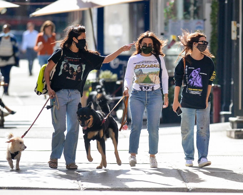 Emily Ratajkowski 2020 : Emily Ratajkowski – Out with her dog in downtown New York-07
