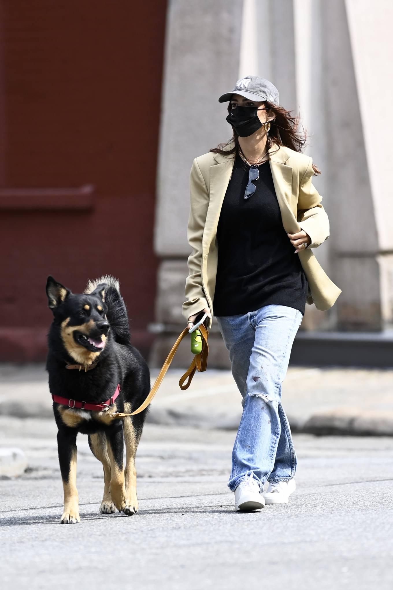 Emily Ratajkowski 2020 : Emily Ratajkowski – Out with her dog in New York-05
