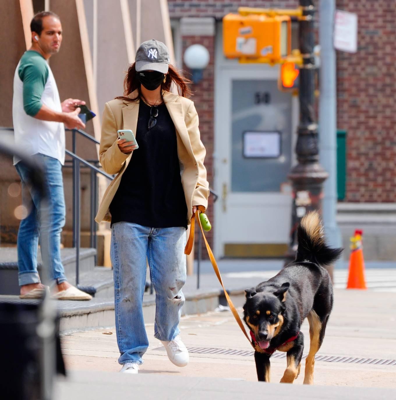 Emily Ratajkowski 2020 : Emily Ratajkowski – Out with her dog in New York-06