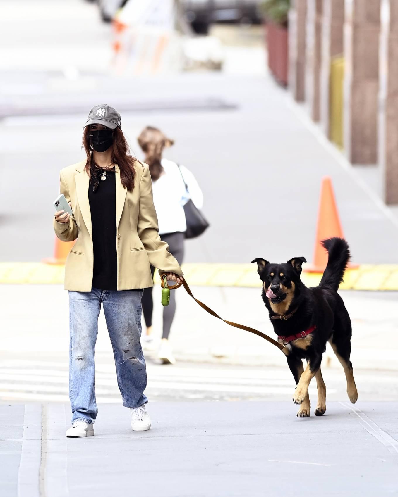 Emily Ratajkowski 2020 : Emily Ratajkowski – Out with her dog in New York-08