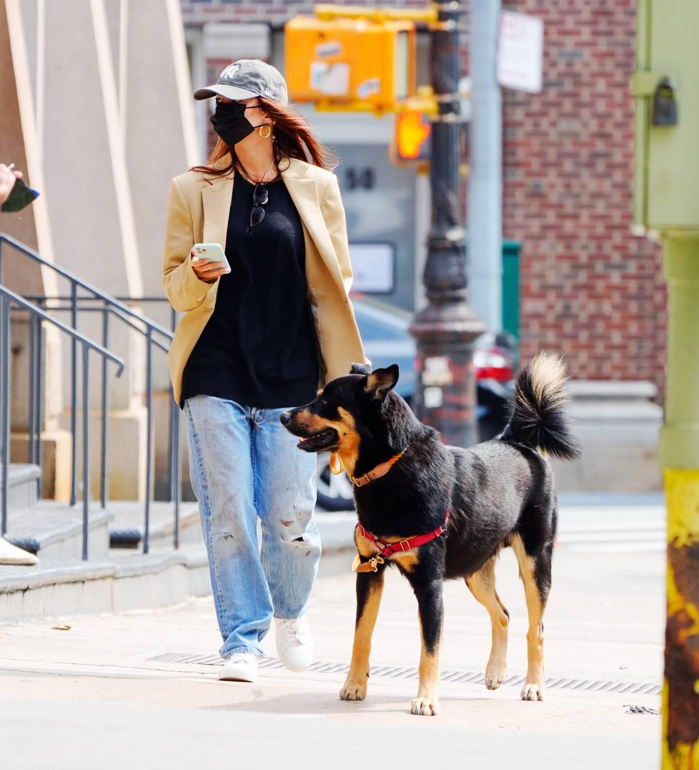 Emily Ratajkowski 2020 : Emily Ratajkowski – Out with her dog in New York-10