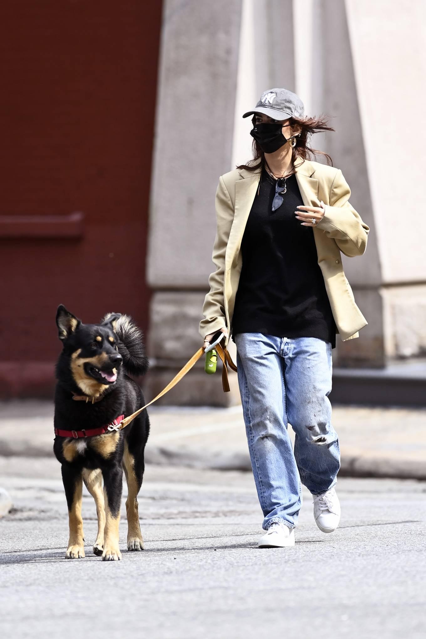 Emily Ratajkowski 2020 : Emily Ratajkowski – Out with her dog in New York-11
