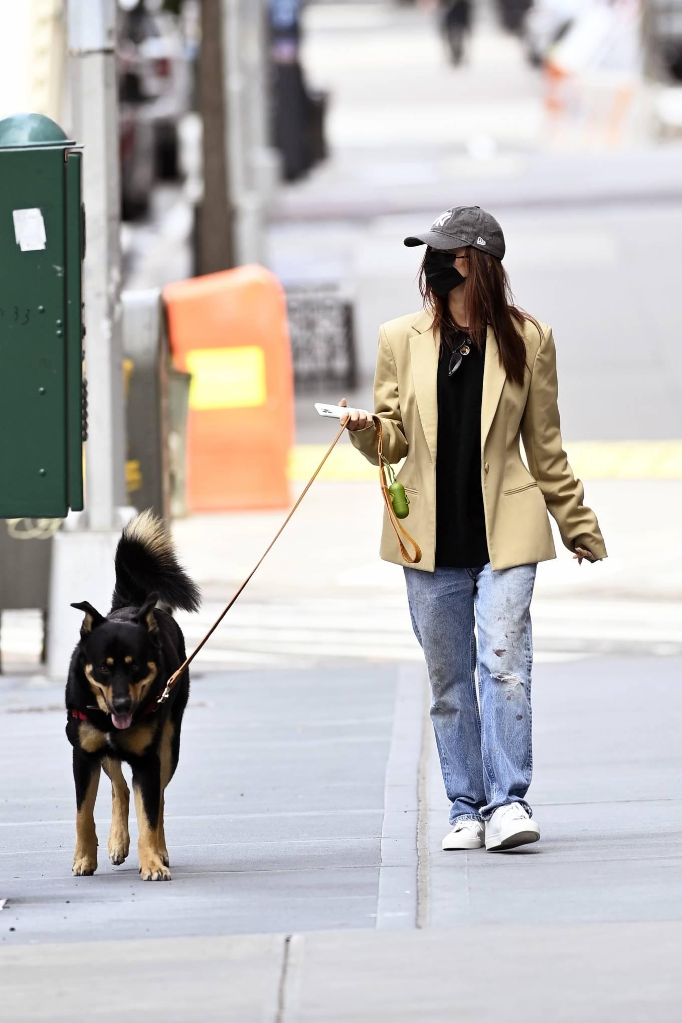 Emily Ratajkowski 2020 : Emily Ratajkowski – Out with her dog in New York-14
