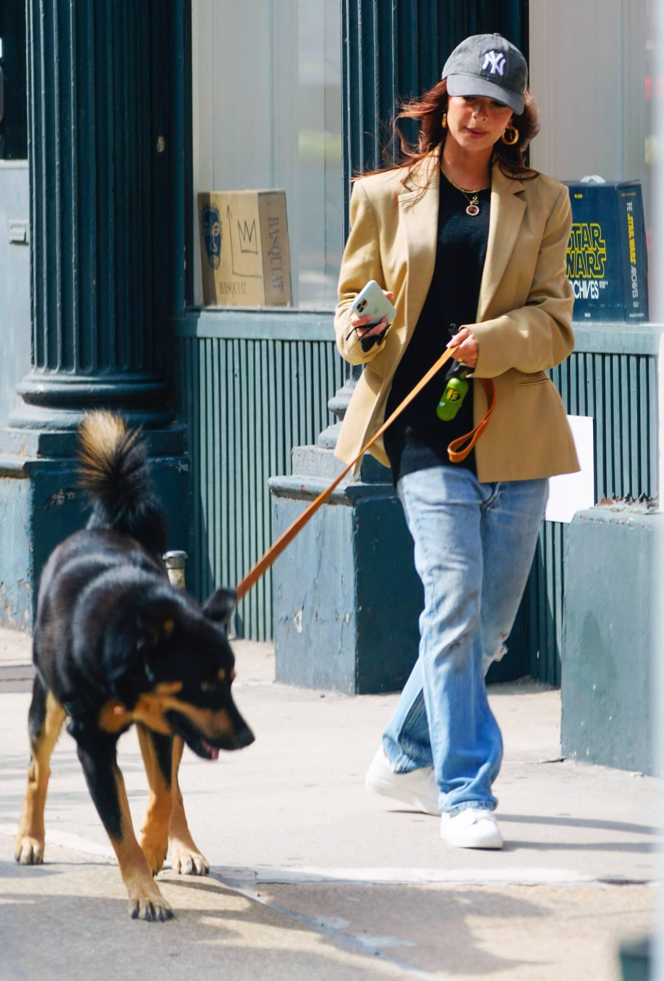 Emily Ratajkowski 2020 : Emily Ratajkowski – Out with her dog in New York-19