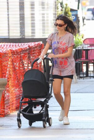 Emily Ratajkowski - out with her son Sylvester in New York
