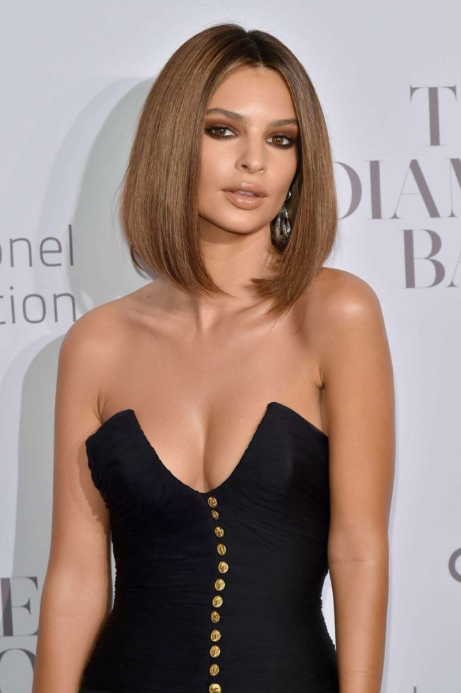 Emily Ratajkowski - Rihannas 3rd Annual Clara Lionel Foundation Diamond Ball in NY