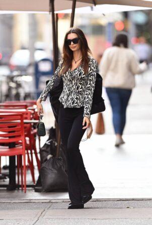 Emily Ratajkowski -Seen while leaving New York City