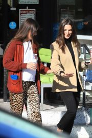 Emily Ratajkowski - Seen with a friend while out in Los Angeles