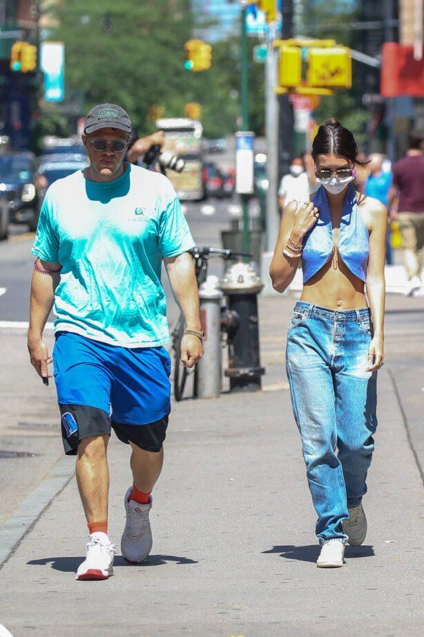 Emily Ratajkowski - Seen with her husband Sebastian Bear-McClard while out in NYC